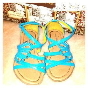 Teal American Eagle Girls Sandals